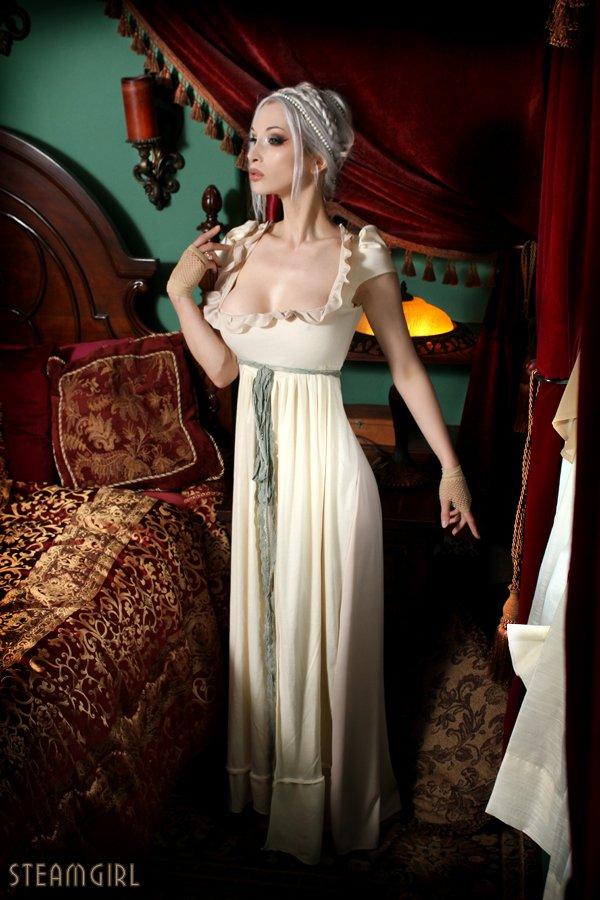 Девушка в стиле стимпак (steampunk). Спальня