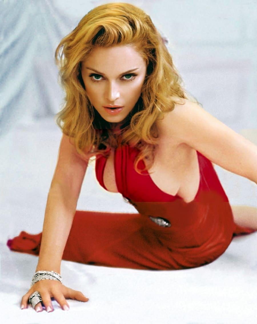 Мадонна фото в молодости в красном платье
