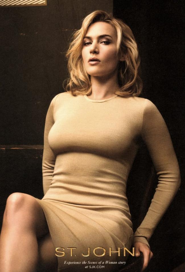 Кейт уинслет фото сидит на стуле в обтягивающем платье коленки