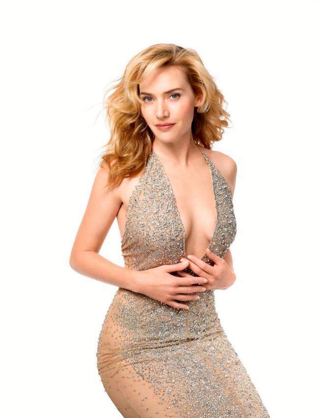 Кейт уинслет горячие в полупрозрачном платье со стразами
