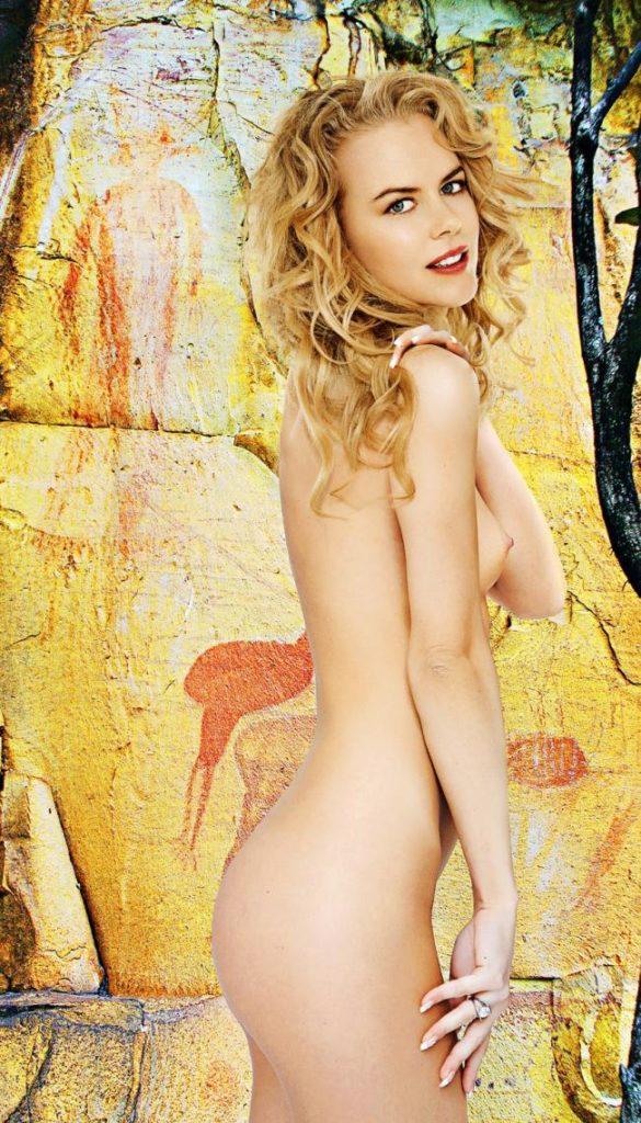 Николь Кидман голая картинка стоит вполоборота