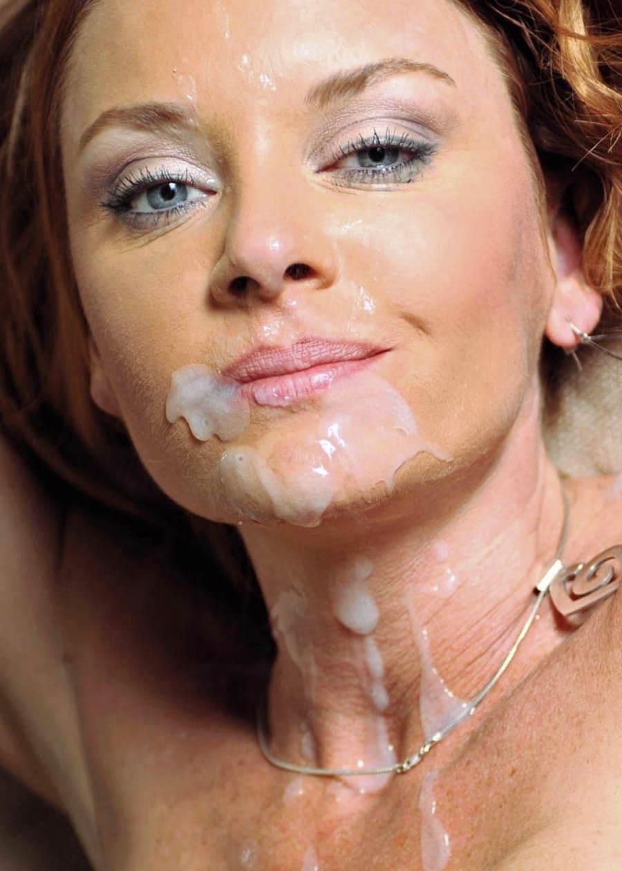 сперма на лице женщин красивое лицо стекает по подбородку и груди